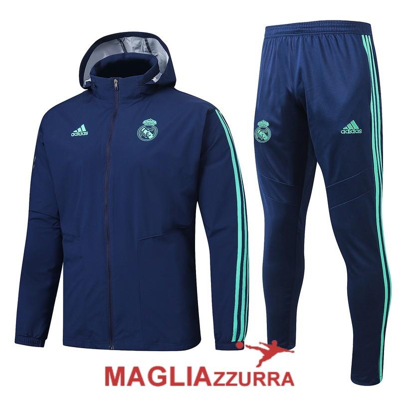 2019-2020 real madrid giacca a vento blu scuro