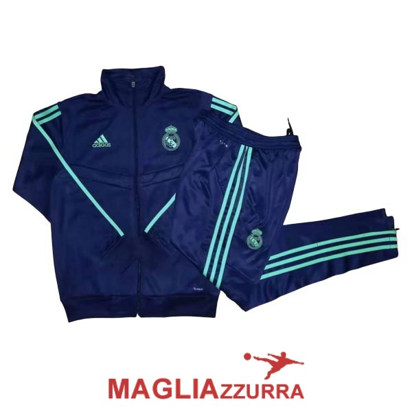 blu scuro real madrid giacca 2019-2020